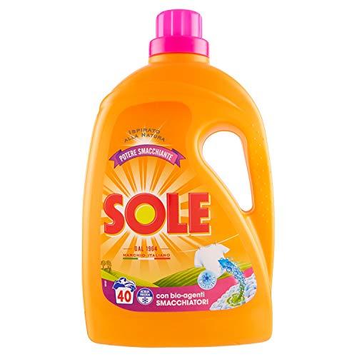 Sole Detersivo Liquido Per Lavatrice, Potere Smacchiante, 40 Lavaggi - 2040 g