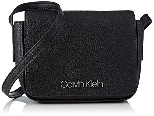 Calvin Klein Jeans Damen Ck Base Small Crossbody Umhängetasche, Schwarz (Black), 8x14x17 cm