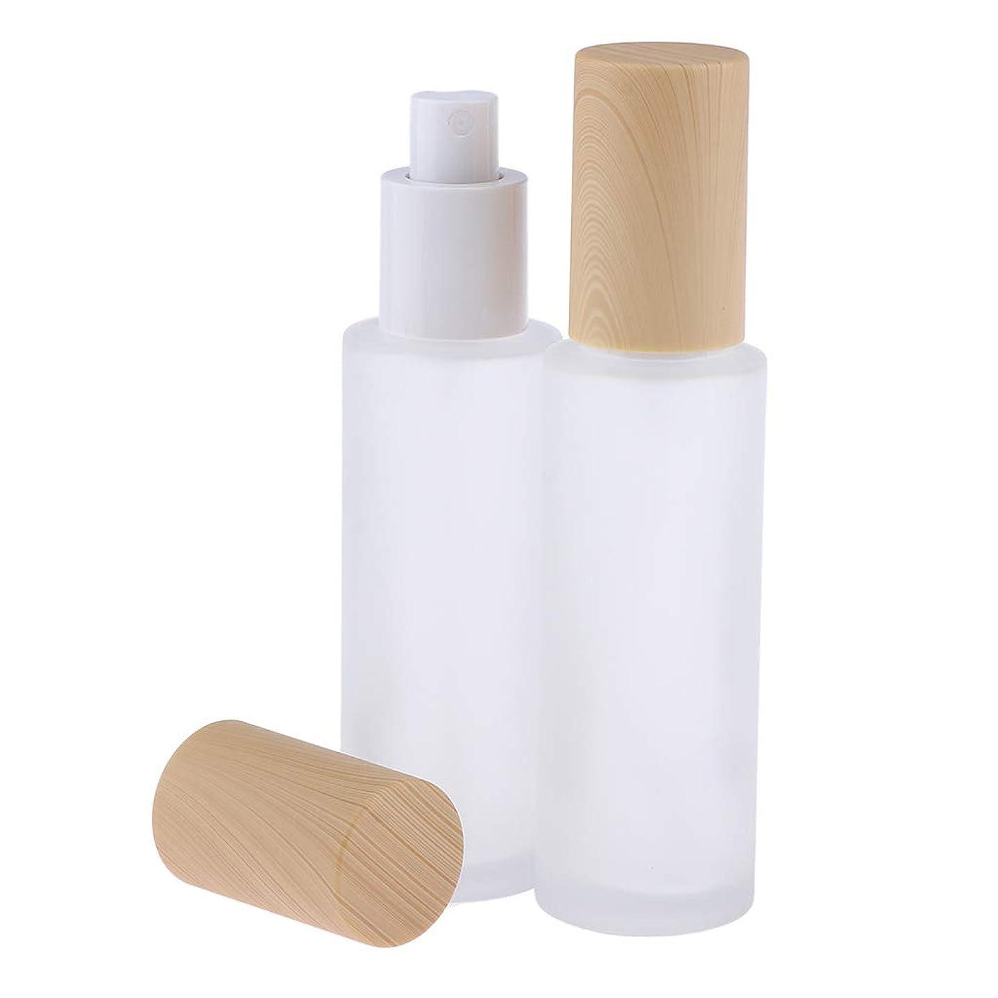 代わって根拠委員会B Baosity 2個 ポンプボトル 香水ボトル ガラス ミストスプレー 旅行 便利 6サイズ選べ - 60ミリリットル