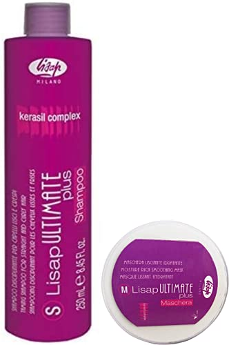 Lisaplex Ultimate Champú de Queratina 1000 ml (+ Lisaplex Ultimate Plus Mascarilla Hidratante - 250 ml)