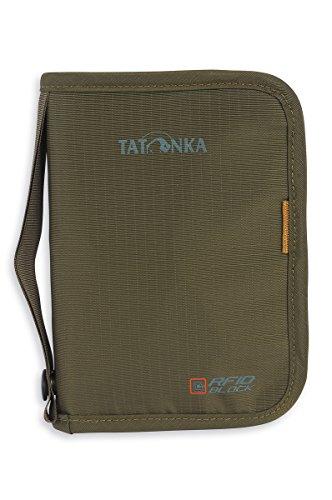 Tatonka Travel Zip M RFID B - Reisepasstasche mit RFID Blocker - TÜV geprüft - Bietet Platz für (EU) Reisepass, Kreditkarten, Reisedokumente, etc. - Schützt vor Datenklau - 17 x 12 x 3 cm - schwarz