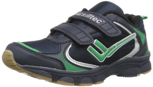 Killtec Unisex-Kinder Hailey Jr Hallenschuhe, Blau (dunkelnavy/grün/Silber / 00814), 27