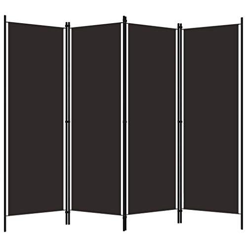 pedkit Biombo Divisor de 4 Paneles Biombo Separador Separador de Ambientes Biombos de Dormitorio Marrón 200x180 cm