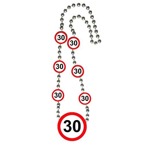 Folat Verkehrsschild Geburtstag Halskette of Honor–30. Geburtstag