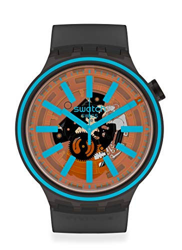 Swatch BIG BOLD Correa de silicona de cuarzo suizo, espectro, Azul/Patchwork