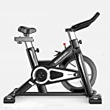 LLKK Bicicleta estática silenciosa, bicicleta estática interior, equipo de ejercicio en casa, bicicleta estática magnéticamente controlada, plegable, 120 kg, bicicleta silenciosa para interiores