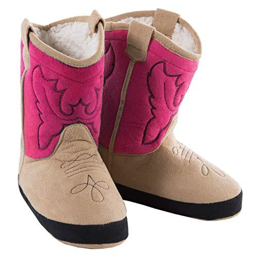 Western Cowboystiefel Hausschuhe pink (19-25 EU, pink)