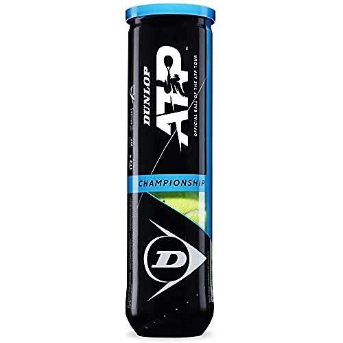 Dunlop Unisex-Adult 601333 Tennisball ATP Championship-4 Ball pet, Gelb, One Size