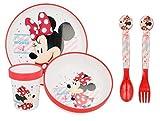 Stor for Minnie Mouse Fans 5 Piece Premium Dinnerware Set