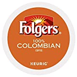 Folgers 100% Colombian Medium Dark Roast Coffee 100 K-Cups yPpcg( Pack of 1 )