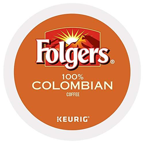 Folgers 100% Colombian Medium Dark Roast Coffee 100 K-Cups yPpcg( Pack of 1 )