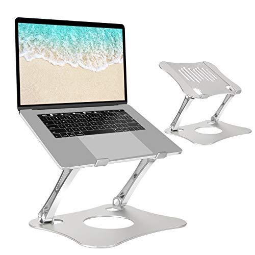 MGRETT Laptop Ständer, Aluminium Stand für macbook, Tragbar Höhenverstellbarer Belüfteter Laptop Ständer, Universal Ergonomisch Notebook Stand