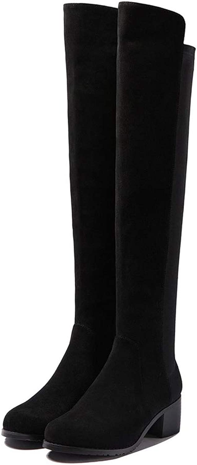 Women Over The Knee Boots Fashion Slip on Winter Elegant Comfortable shoes for Female