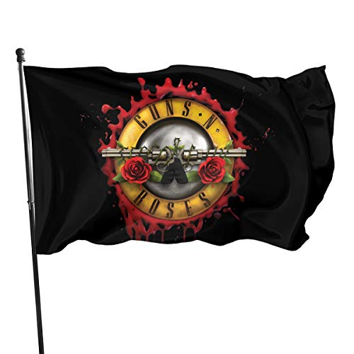 NOT BRAND ChenMingGao Home Decoration Guns N' Roses Garden Flag Indoor Outdoor Flag 3x5 FT