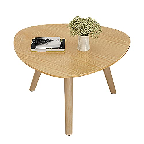 ZWJLIZI Coffee Table, Nordic Solid Wood Triangle Low Table (H45cm), Bedroom Leisure Table/Study Table, Small Apartment Sofa Side Table (Color : A)