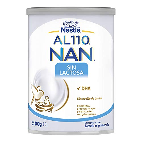 NAN AL110 - Tratamiento dietético de lactantes y niños con intolerancia a la lactosa, frecuentemente asociada a trastornos diarreicos, 400 g
