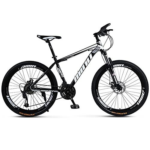 26 Pulgadas Moutain Bike Para Mujeres Y Hombres, Bicicleta De Moutain De La Ciudad De Freno De Doble Disco Para Adultos Y Adolescentes, Acero Al Carbono Tenedor De Suspen(Size: 27 Speed ,Color:negro)