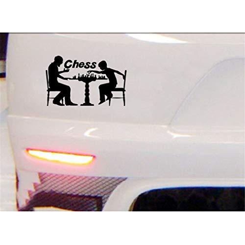 A Auto Aufkleber 16,6 Cm x 10,2 Cm Schach Spieler Stücke Strategie Brettspiel Mode Dekor Aufkleber Aufkleber für auto laptop fenster aufkleber