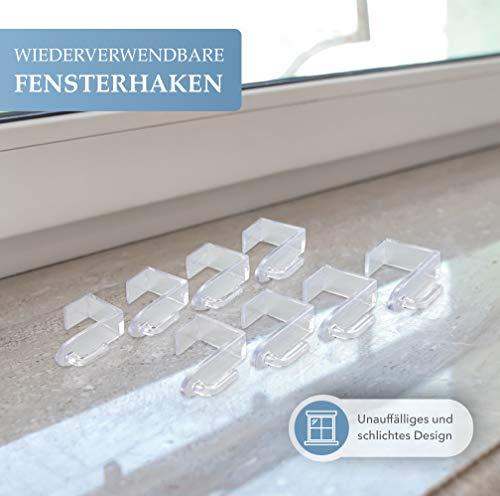 Bada Bing Fensterhaken 8er Set - Transparente Türhaken - Robuste und praktische Haken - Für jede Rahmenfarbe - Stabile Halterung Fenster - Ohne Kratzer am Fensterrahmen