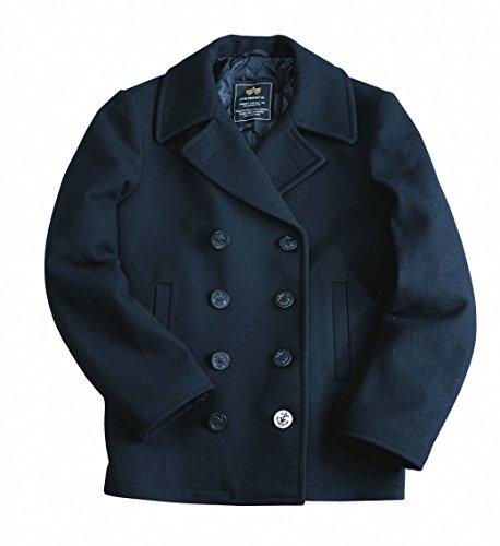Alpha Industries Pea Coat USN, Farbe:navy;Größe:S