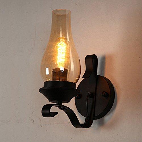 JJZHG wandlamp wandlamp waterdichte wandverlichting creatieve slaapkamer nachtwandlamp retrostijl enkele kop lantaarn gang trap zonder gloeilamp bevat: wandlamp, stoere wandlampen