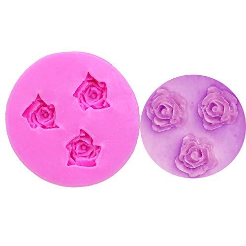 CSCZL Moldes de Silicona de Flores Fondant Craft Cake Candy Pastelería Herramienta para Hornear Molde Herramientas de decoración de Pasteles