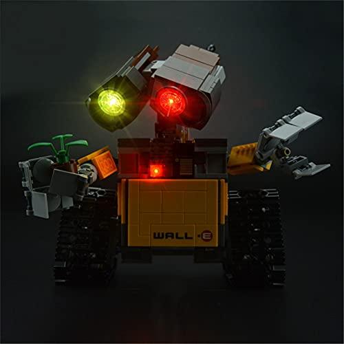 ADMLZQQ Iluminación LED Compatible con Idea Robot Wall E, (Juego De Luces LED para Lego 21303) Modelo De Bloques De Construcción (Solo Luz Incluida)