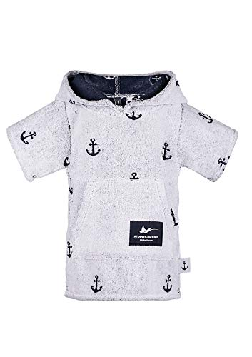 Atlantic Shore Surf Poncho Limited Anchor Edition voor kinderen Offshore White - baby