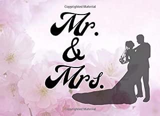 Mr. & Mrs.: Pink Floral 8.25x 6