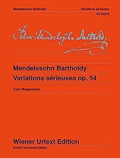 Mendelssohn: Variations sérieuses, Op. 54