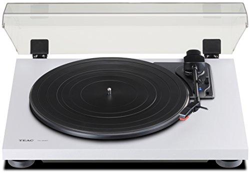 Teac TN-180BT(W) Hifi Plattenspieler mit Bluetooth Sender für Lautsprecher und Kopfhörer (Riemenantrieb, 33/45/78 U/min, integrierter Phono-Vorverstärker, High-Density MDF-Gehäuse), Weiss