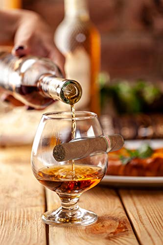 Barbuzzo Cigar Czar Cognac Glass - Brandy Snifter with Cigar Rest