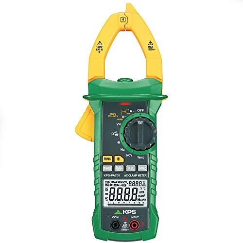 KPS-PA700 Pinza amperimetrica digital TRMS,Tension DC 1000V AC 750V, corriente 1000A, NCV (detección sin contacto), 40 mm de apertura