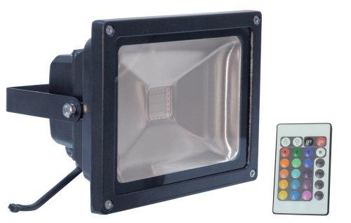 Electrovision - Projecteur RGB à LED Changeur de Couleur avec Télécommande Sans Fil - Couleur: Noir - Dimensions: 30W