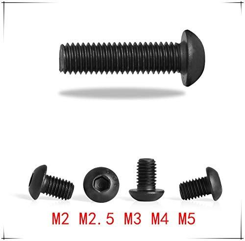 Tornillo de cabeza hexagonal M2/M2.5/M3/M4/M5*5/6/8/10/12/16/20/30/40/50 mm, cabeza de hongo negro, grado 10.9 RSS
