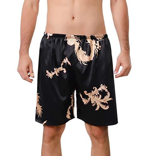 AIEOE - Pantalones Salón Cortos para Hombres de Verano