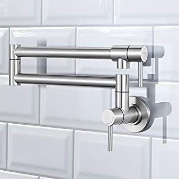 Dalmo Pot Filler Faucet Stainless Steel Wall Mount