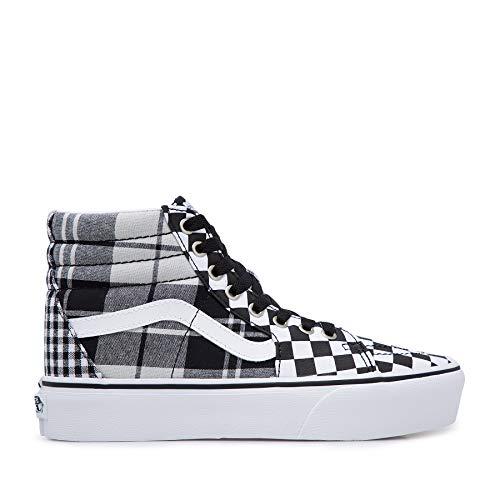 Vans, SK8-HI Platform 2.0, dames, canvas, sneaker, zwart