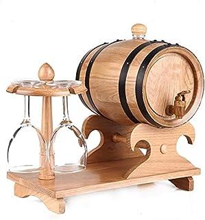 WSVULLD Distributeur Mini Keg Barrel de chêne 3L, distributeur de tonneaux de whisky en bois sans baril de doublure adapté...