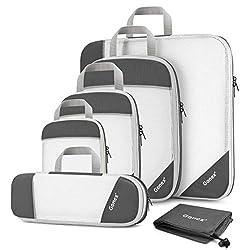 Compression Packing Cube 6-teilig, Gonex 9 Farbauswahl Packtaschen, grau