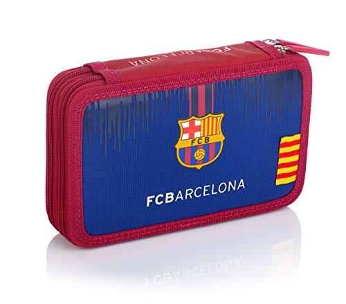 FC Barcelona - Estuche Escolar con Accesorios - Doble FC-236 Barcelona Barca...
