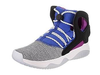 Nike AIR Flight Huarache Ultra Mens Fashion-Sneakers 880856-100_10.5 - White/Black-Lyon Blue-Bold Berry