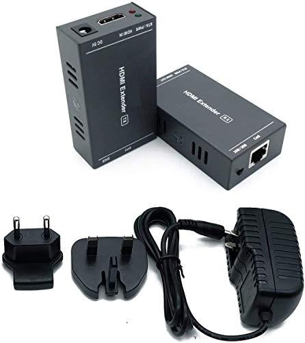 MY-202(POC) HDMI Extender Extensor 165ft/50m Sin Comprimir Solo Cat6 Transmision sobre Soporte De Full HD 1080P 3D EDID uno Power Supply