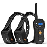 ieGeek Dog Training Collar for 2 Dogs - Rechargeable and Waterproof Shock Collar - 1960ft Blind Operation Remote Controlled Electric...