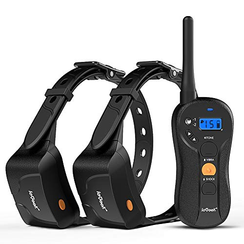 IeGeek Dog Training Shock Collar for 2 Dogs