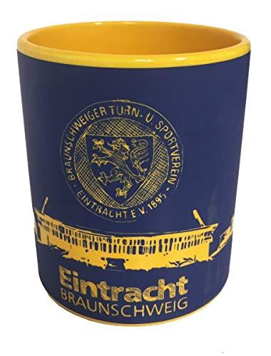 Eintracht Braunschweig Tasse - Scribble - Kaffeetasse, Pott, Mug BTSV - Plus Lesezeichen Wir lieben Fußball