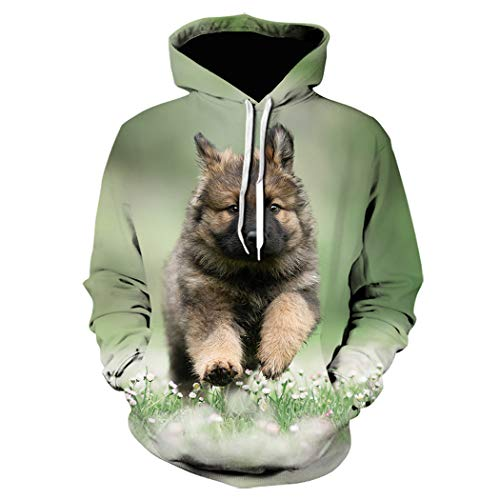 Animal Cute Dog 3D Print Hoodie Tops, Sudaderas para Hombres Jerseys Outwear Ropa Deportiva Chándal Harajuku...