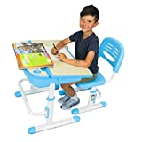 Height Adjustable Kids Desk and Chair Set   Student Desk for Kids Homework   for Ages 3 to 10 Gray