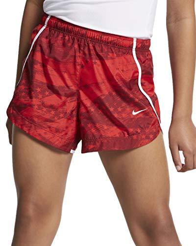 Nike Kids Girl's Dry Running Printed Shorts (Little Kids/Big Kids) University Red/Team Red/White SM (7-8 Big Kids)
