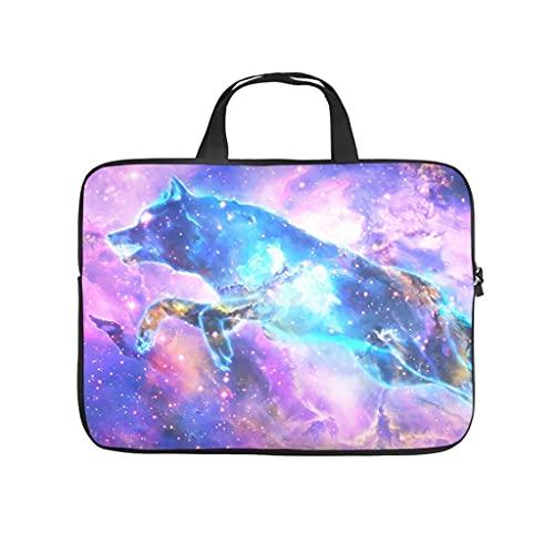 Funda para portátil con impresión 3D de galaxia cielo estrellado lobo, de neopreno suave, funda para tablet, funda para empleados y amigos